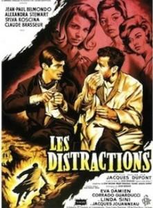 Les distractions avec Jean-Paul Belmondo en 1960.