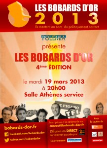 Bobards d'Or 2013 : le 19 mars à Paris