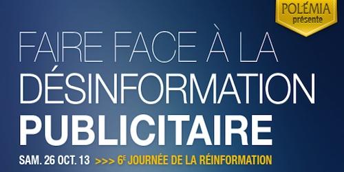 Feu sur la désinformation publicitaire! Samedi 26 octobre à Paris
