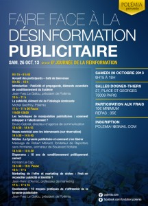 Sixième journée de la réinformation présentée par Polémia le 26 octobre 2013