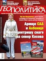 La Une de Geopolitika, livraison d'août 2013, annonçant l'entretien avec Michel Geoffroy