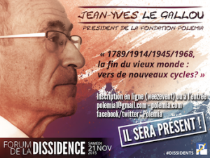 Jean-Yves Le Gallou, Forum dissidence