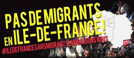 « Pas de migrants en Ile-de-France »