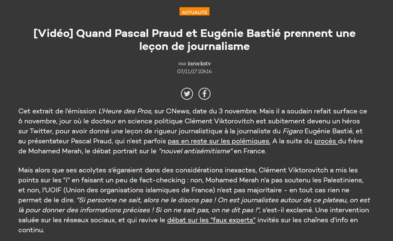 Bobard Inrocks Eugénie Bastié