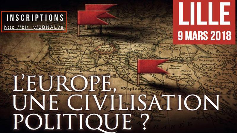 Conférence BIOS à Lille le 9 mars : L'Europe, une civilisation politique ?