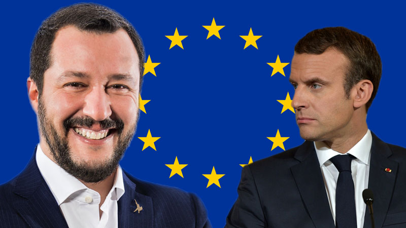 Salvini Macron Elections Europe