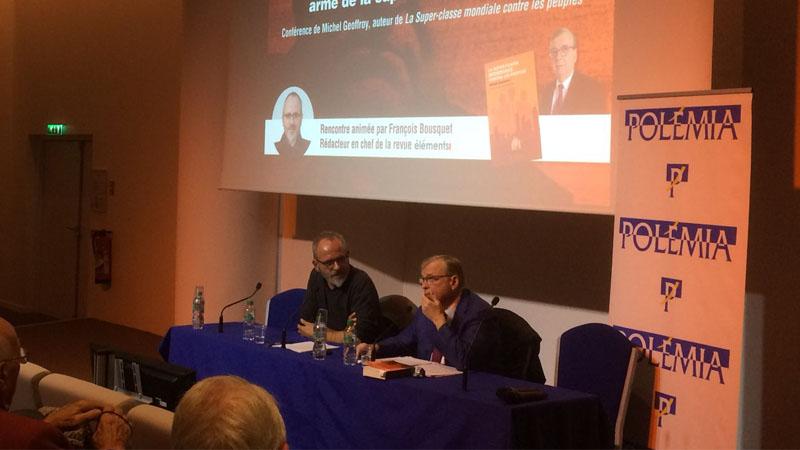 Succès pour la conférence de Michel Geoffroy sur la super-classe mondiale
