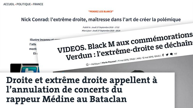 Black M, Médine, Nick Conrad : derrière l'indignation, « l'extrême droite » désignée coupable