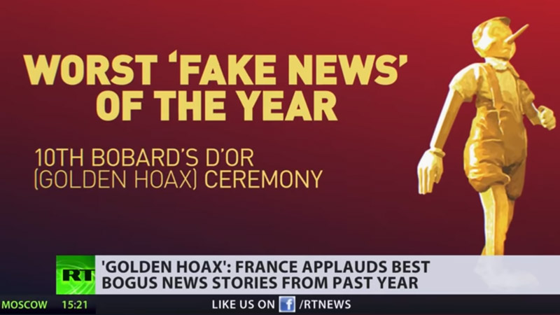 Russia Today propulse les Bobards d'Or à l'international