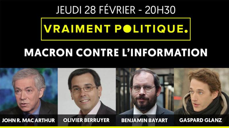 Emmanuel Macron contre l'information [Vidéo]