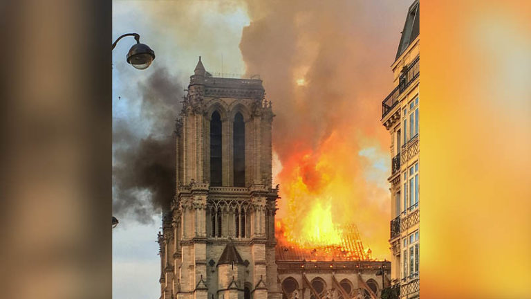 Puisse l'incendie de Notre-Dame éveiller les âmes assoupies des Européens...