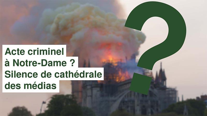 I-Média n°246 – Possible acte criminel ? Silence de cathédrale des médias
