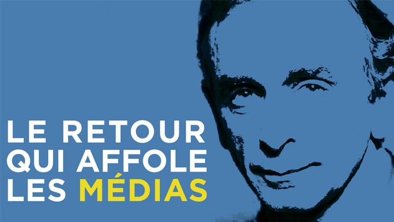 I-Média n°265 – Eric Zemmour, le retour qui affole les médias !