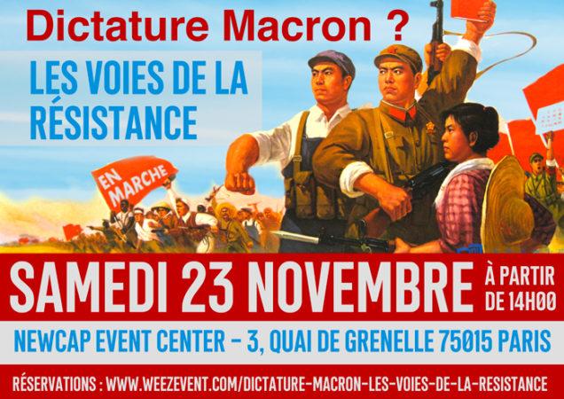 Face à la dictature Macron : les voies de la résistance ! Rendez-vous le 23/11/2019