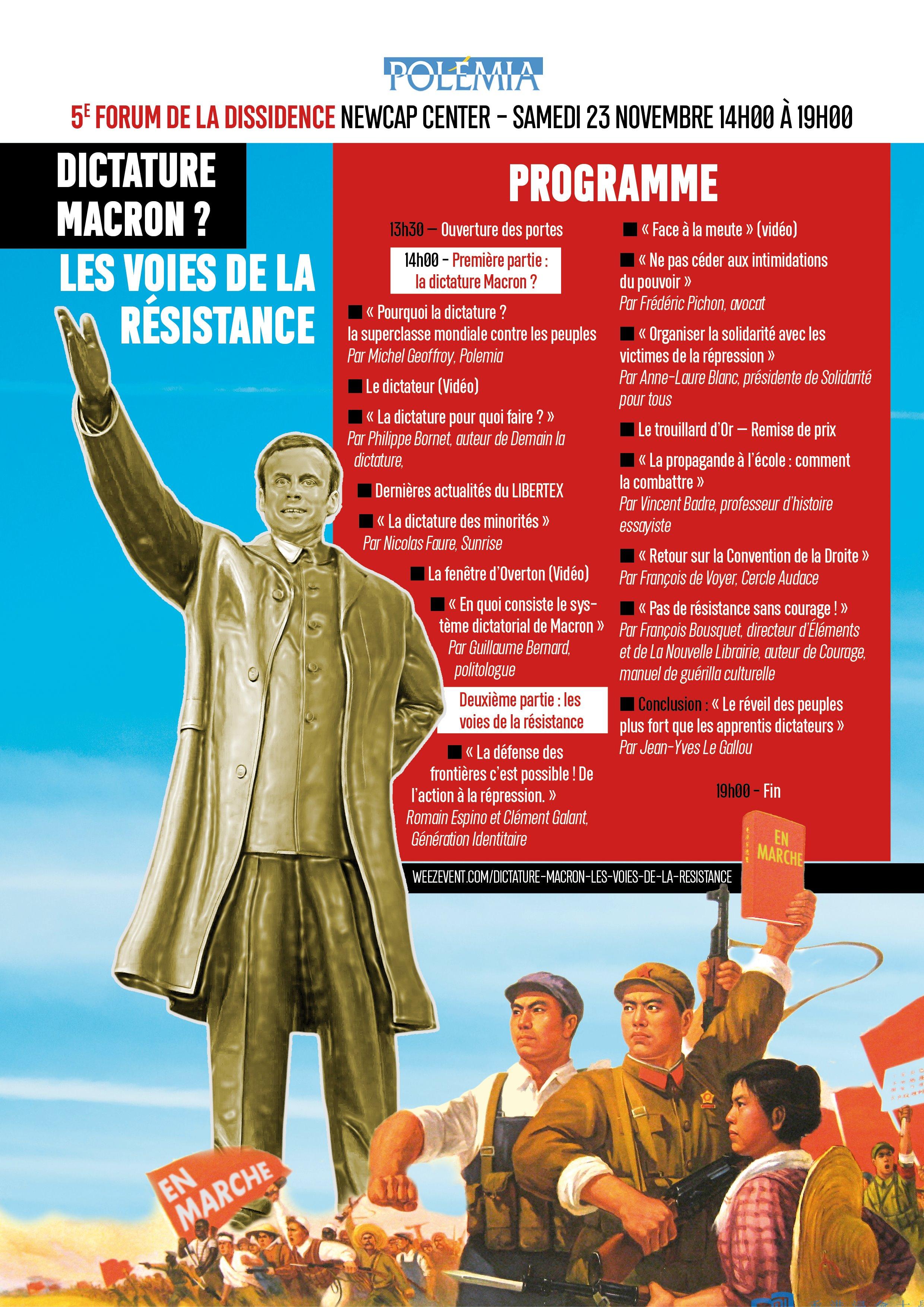 Programme du Forum de la Dissidence - Dictature Macron