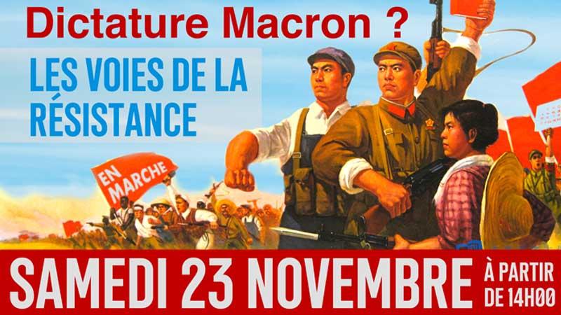 Le programme du Forum de la Dissidence sur la « Dictature Macron » - 23 nov 2019