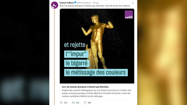 Statues blanches : France Culture se ridiculise