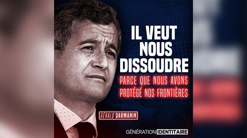 Une pétition pour soutenir Génération Identitaire face à Gérald Darmanin