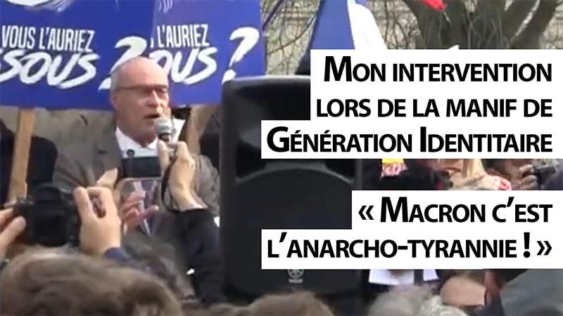 Discours de Jean-Yves Le Gallou à la manifestation de soutien à Génération Identitaire