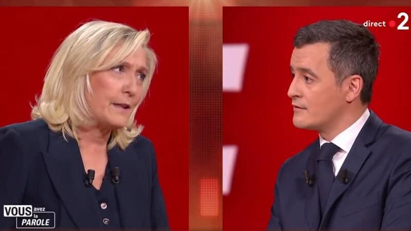 Face à Darmanin, Marine Le Pen entre logiciel dépassé et sous-motorisation