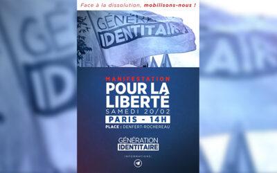 Génération Identitaire. Manifestation ce samedi et message de Thaïs d'Escufon